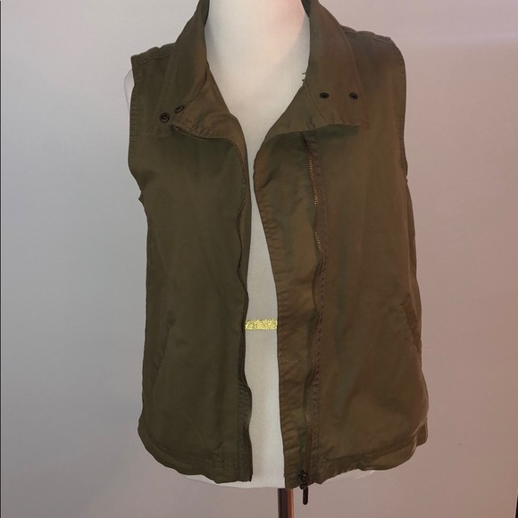 Max Jeans Jackets & Blazers - Olive Green Vest Jacket